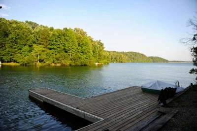 Large Dock for Lounging and swimming