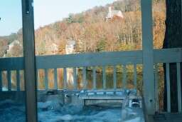 Hot Tub On Deck Overlooking The Lake